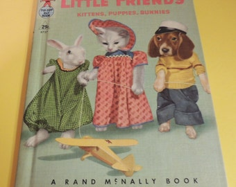 1951 Little Friends Kittens, Puppies, Bunnies Tip Top Elf Book