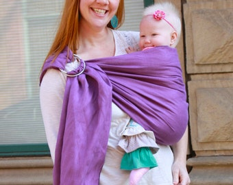 Linen Ring Sling Baby Carrier Baby Sling - Orchid -Instructional DVD Included - FAST SHIPPING