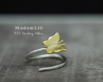 "925 Sterling Silver Ring ""Butterfly"""