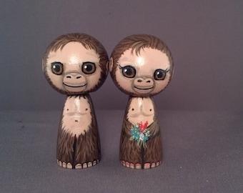 Bigfoot Wedding Toppers Sasquatch