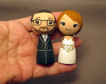 Wedding Cake Toppers Redhead Bride Doll