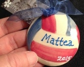 Custom Color Have a Ball Sports ornaments for Volleyball, Soccer, Basketball and Baseball