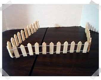 Unfinished Miniature Wooden Fence/ Minis/Craft Supplies*