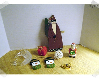 Christmas Craft Ornaments/Assorted Lot (#10)/Craft Supplies**