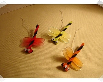 Embellishments- Dragonflies Pieces/ Set of 3/Craft Supplies*