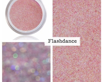 Ballet Pink Glitter Makeup, Pink Iridescent, Cosmetic Glitter, Glitter Pigment, Pink Rainbow, Pink Sparkle, Pink Shimmer, Flashdance