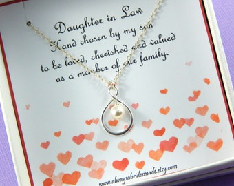 Daughter In Law Necklace, Daughter In Law Gift, Daughter In Law Wedding Gift, Daughter In Law Jewelry, Daughter Gift