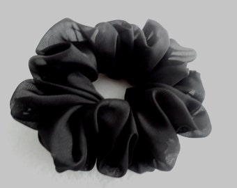 Scrunchies Ponytail Holder (free shipping) Hair Accessories Solid Black Hair Scrunchy