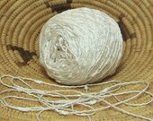 Snow Pearl White Yarn, Textured, Nubby, Shimmery, White Lace Weight Yarn, Rayon Blend, Bin 12