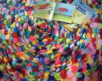 Large Round Colorburst Rug- Multicolor Fleece