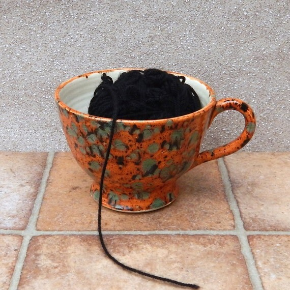 Yarn bowl knitting or crochet handthrown pottery ceramic