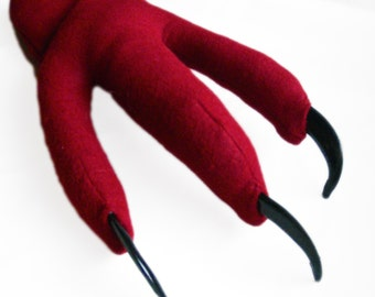 Ruby Dragon Feet with Talons. Monster, Mythical Creature Claws. Three Sizes.