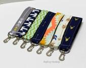 Key Chain / Key Fob - Swivel Clasp Key Wristlet - Choose Your Fabric - Aztec - Arrows - Buck
