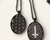 Inverted Cross Pendant Necklaces