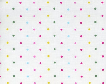 Polka dot fabric etsy for Pastel galaxy fabric