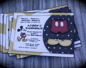 Vintage MICKEY MOUSE Invitations