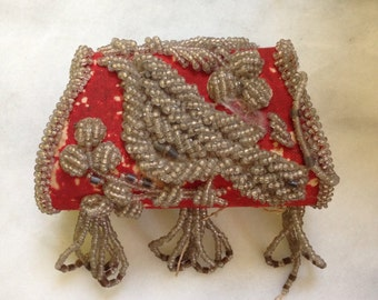Victorian Beaded Souvenir Bag