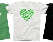 St Patrick's Day tshirt . Women's Lucky tee - unisex - white