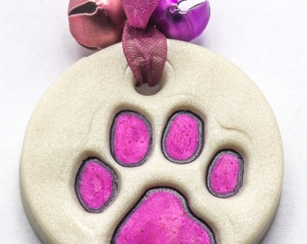 Sale / On Sale / Clearance Jewelry / Jewelry on Sale / Marked Down / Precious Paw Print Ornament - Pink - OR00028