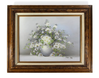 Original Vintage Daisies Oil Painting - Nancy Lee