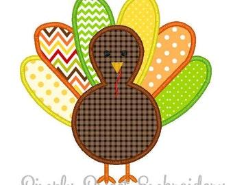 Thanksgiving Turkey Machine Embroidery Applique Design