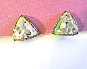 Vintage 50s Earrings , multi-colour Confetti Cand Shop Earrings