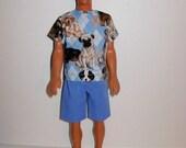 Handmade barbie clothes - Ken nice summer clothes