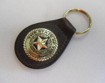 Vintage  Leather Texas Ranger Key Ring