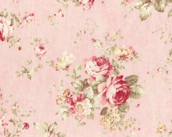 Durham Quilt 2016 Collection  Cotton Fabric  by Lecien Pink roses on Pink 31336-20