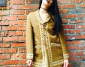 Vintage 70's Embroidered Winter Coat