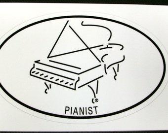 Pianist Sticker