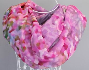 Scarf, Shawl, Bridal Party, Wedding Wrap.  Abstract Floral Photography.  Pink Wildflower Design.
