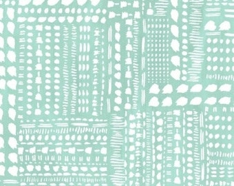SALE - Windham Fabrics - Blush & Blooms Collection - Dotted Patchwork in Aqua