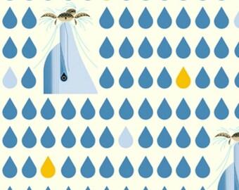 Birch Fabrics - Maritime Collection - Dolfun in Blue Organic