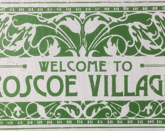 Roscoe Village Neighborhood sign 10 x 13
