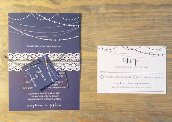 Twinkle Lights Wedding Invitation, string lights wedding invitations, rustic strands of light wedding invites, fairy lights wedding invite