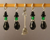Wee Wicked Witches Coven LIMITED EDITION Halloween Stitch Markers for Knitting