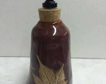Burgandy Leaf Soap/Lotion Dispenser