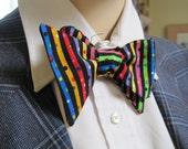 Striped Confetti party Bow Tie