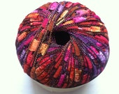 Trendsetter Lane Borgosesia Murano Mini Ladder Ribbon Yarn Sugar Plum - Pinks Purples Oranges - 25 gram 60 yards