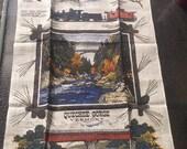 Unused Vintage Quechee Gorge Vermont KayDee Linen Kitchen Towel