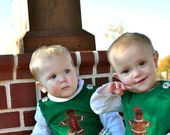 Brother and Sister Christmas outfits, Gingerbread Jon jon and A-line jumper sizes 3mos through 6years