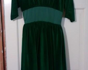 1950s velvet and taffeta dress Rockabilly size 4