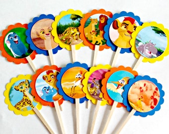 Lion Guard Cupcake Toppers . Lion Guard Birthday Party . Lion Guard Decorations . Set of 12