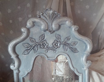 Mirror Charming Cottage Arch Top Ornate Shell Scroll Poppy Cottage Painted Furniture Vintage