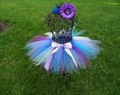 Mermaid Costume- Blue Fairy tutu, Purple Fairy tutu- Mermaid tutu- Toddler Fairy costume- Baby Mermaid Costume- Girls blue tutu