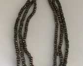RARE  Antique Steel Cut Micro Beads - Made in France - 3 strands