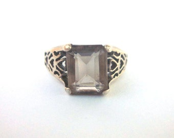 Brown Tanzanite Sterling Silver Ring Gemstone Jewelry Square Gemstone