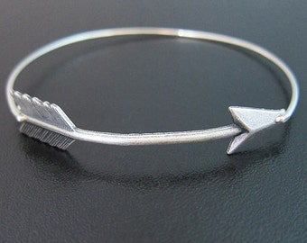 Silver Arrow Bracelet, Arrow Jewelry, Archery Jewelry, Archery Bracelet, Arrow Bangle Bracelet