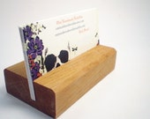 Wooden Business Card Holder - Ash - Hand Shaped - 15th